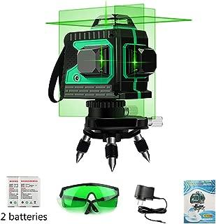 TOOLARA 3x360 degree cross Line Laser leveling, Auto self leveling,High precis Green Beam 120Ft Vertical,4000mAh Larger battery capacity,Wider range of Three-Plane illumination