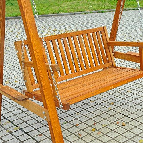 Outsunny Hollywoodschaukel Gartenschaukel Schaukelbank Schaukel 2-Sitzer Lärche - 5