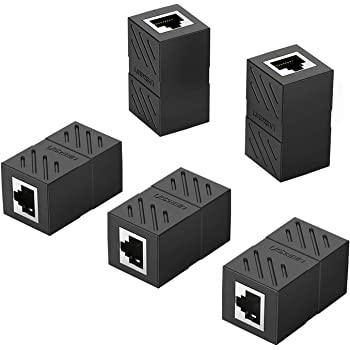 5x RJ45 Female To Female Network Ethernet Connector Adapter Coupler Extenders CA