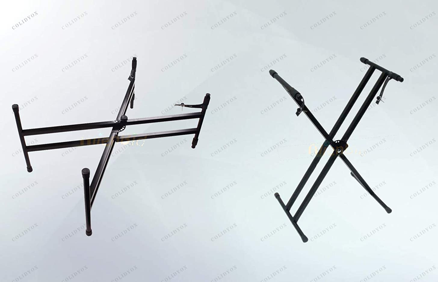 COLIDYOX_Keyboards,Dual-tube X-Shape Keyboard Stand,piece of cake,high-level X-type dual keyboard stand, materials and with stable and solid construction,easy transportation