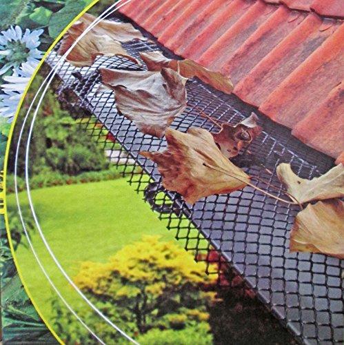 Lifetime Garden 2029966 Dachrinnen-Schutzgitter dunkelgrün 6m x 17,5cm, mit Befestigungsclips