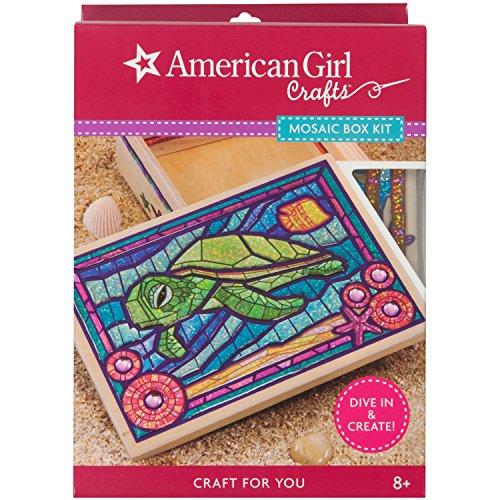 American Girl Crafts Turtle Mosaic Box Kit, 6.5'' x 3'' x 9.5''