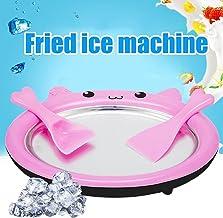 Delaspe Machine à glaçons Bricolage Machine à Yaourt Frit sans Plaque de Rouleau de crème glacée enfichable pour Enfants