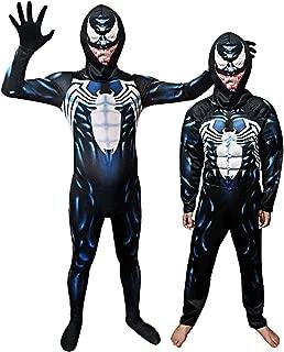 TngHui Venom Cosplay Children's Performance Costume Set for Kids and Adult