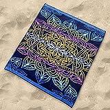 Sibiles - Toalla Playa Grande Doble de 175x150 cm Algodón Egipcio 100%. Totem,...