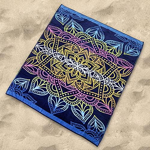 Sibiles - Toalla Playa Grande Doble de 175x150 cm Algodón Egipcio 100%. Totem