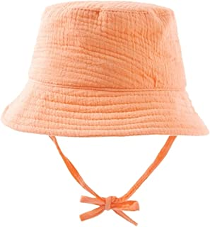 Summer Crepe Cloth Sun Hat Shade Sunscreen Solid Color Daily Breathable Children's Fisherman Hat