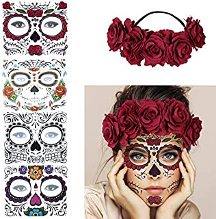 Best sugar skull temporary tattoo Reviews