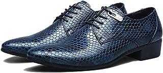 Scarpe da Uomo in Pelle Confortevoli Appartamenti con Lacci Scarpe Oxford Scarpe da Cerimonia per Matrimonio Formale con P...
