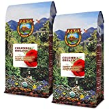 Java Planet, Organic Coffee Beans, Colombian Single Origin, Gourmet Medium Dark Roast of Arabica Whole Bean Coffee, Certified Organic, Rainforest Alliance Certified, Two 1LB Bags