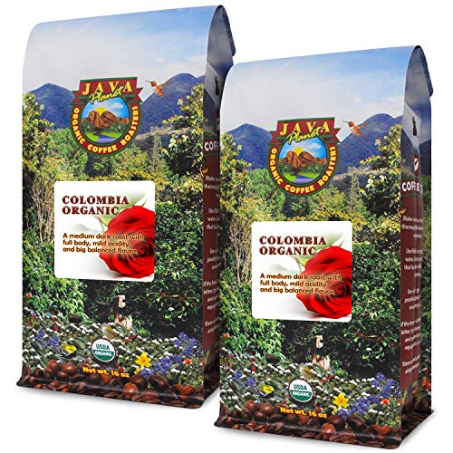 Java Planet, Organic Coffee Beans, Colombian Single Origin