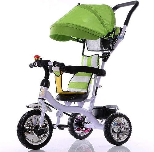 Entrega rápida y envío gratis en todos los pedidos. LIUJIE Baby Bike Baby Baby Baby Kinderwagen DREI-in-einmultiner Dreirad Fahrrad für Kinder, 1-5 Jahre, leeres RAD in Titan, Baby Kinderwagen, Spielzeugauto,verde  compras online de deportes