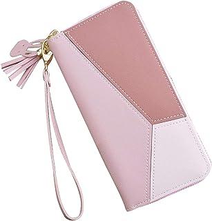 Ladies Purse Wallet PU Leather Long Women Wallet Card Holder Wallet Clutch Wallet with Zipper Pocket Coin Purse (Women Wal...