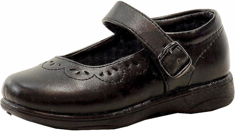 Petalia Girl's Sheila Black Fashion Mary Jane Dress Shoes