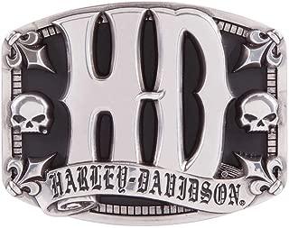 Harley-Davidson Men's Sculpted H-D Belt Buckle, Antique Silver Finish HDMBU11407
