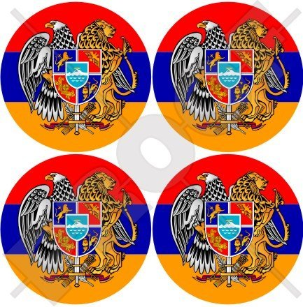 Arménie Arménien 50 mm (5,1 cm) bumper-helmet en vinyle autocollants, Stickers x4