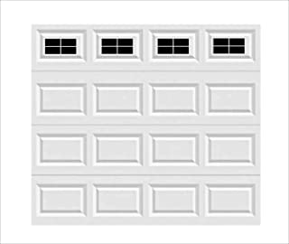 NILEHO 16 Pcs Black Magnetic Faux Windows Panels for 1 Car Garage Household Essentials Metal Garage Door Decorative Easy Installation Sheets and Plates of Metal - 6.125