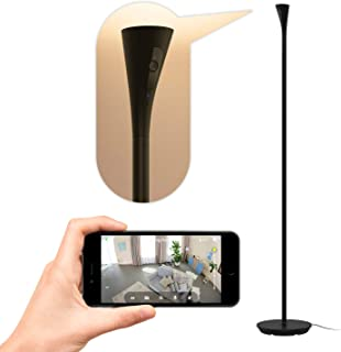 Panasonic Homehawk Floor Lamp Camera with Wide Angle, Ambient Light, Motion Detection, 1080P HD Video, Color Night Vision & Voice Assist - KX-HNC850B (Black Satin)