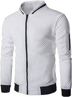 Zackate Mens' Long Sleeve Plaid Cardigan Zipper Sweatshirt Tops Sporty Baseball Jacket Coat Outwear