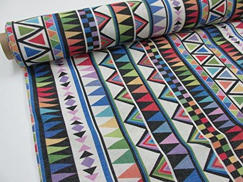Confección Saymi Metraje 0,50 MTS Tejido loneta Estampada Ref. Delta Multicolor, con Ancho 2,80 MTS.