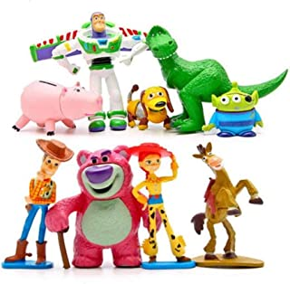 Pack of 9 Premium Toy Story Party Figurines Cartoon Action Figures Toy Story Cake Toppers
