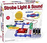 Elenco Snap Circuits Strobe Light and Sound Mini Kit, Multi Color