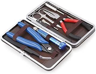 Coil Building Tool Kit Home DIY Tool Set, Ceramics Tweezers, Scissors Pliers, Wire Jig, Screwdriver, Coil Brush, Stainless Steel Tweezers, 8 Pieces General Household Repair Tool Set