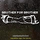 ACEACE 30 * 10cm Bruder for Brüder Reflective Lustige Auto-Aufkleber Vinyl Aufkleber Silber/schwarz for Auto-Auto-Aufkleber-Styling (Color Name : CS1640 Silver, Style : 1 Piece)