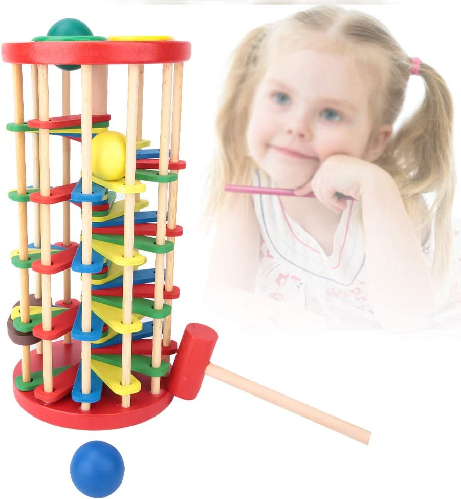 Felenny Max 77% OFF Wooden Tower Toy Baltimore Mall Stairs P Game Hammer Christmas Birthday