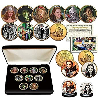 Wizard of OZ Kansas Quarter Gold Plated Ultimate 9-Coin Set w/Box & 2 Free Coins