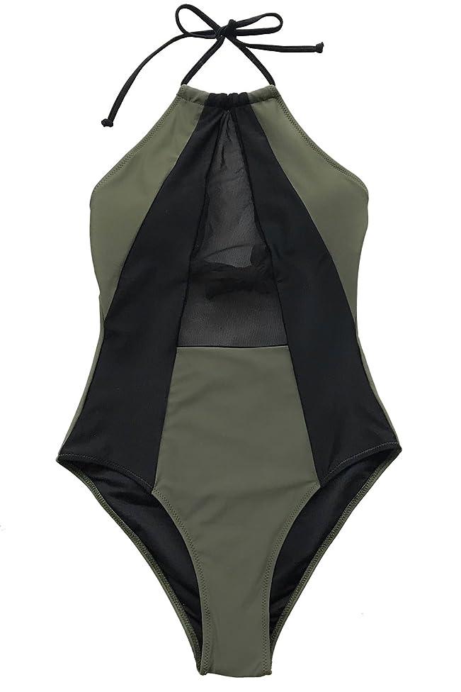 CUPSHE Women's Take My Heart Mesh One-Piece Swimsuit Beach Swimwear Bathing Suit