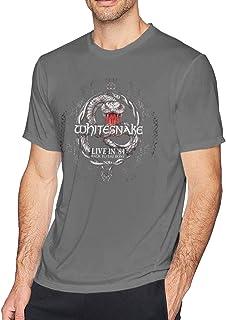 Avber Whitesnake Polyester Fashion Mens Short-Sleeve Tee
