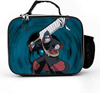 Printed Lunch Bags,Tote,Warmer,Reusable Insulated Cooler Small Lunch Box,Portable Thermal Insulation And Cold Preservation Dinner Bag,Naruto shippuden akatsuki hoshigaki kisame,10.6x8.2x3.5 inch