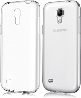 REY Funda Carcasa Gel Transparente para Samsung Galaxy S4 Mini, Ultra Fina 0,33mm, Silicona TPU de Alta Resistencia y Flexibilidad