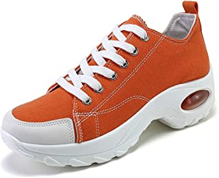 Womens Canvas Shoes Low Top Air Cushion Sneakers Casual...