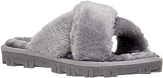 CUSHIONAIRE Women's Cushi Cozy Slipper +Memory Foam