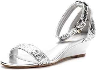 Women's Ingrid Ankle Strap Low Wedge Sandal