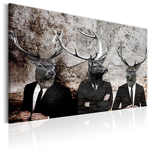 murando - Bilder Hirsch 120x80 cm Vlies Leinwandbild 1 TLG Kunstdruck modern Wandbilder XXL Wanddekoration Design Wand Bild - Tiere Abstrakt Betonoptik g-C-0059-b-a