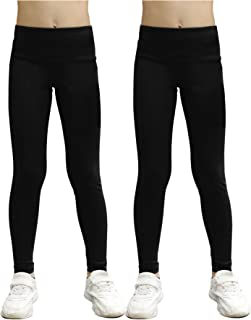 STELLE Girls Active Legging Athletic Dance Workout Running Yoga Pants with Side Pocket