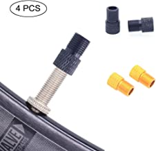 Wenosda 4pcs Valve Adapter Air Pump Adaptor Aluminum Alloy Presta to Schrader Inflation Nozzle Converter with Silicone Sea...