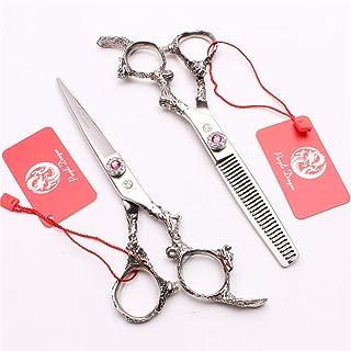 Professional Barber 5.5/6.0 inch Hair Cutting Scharen Verdunnende Shears High-End 9CR Steel Set kappers Stylist Salon Hair...