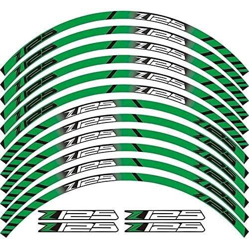 Etiqueta de la rueda de la motocicleta Calcomanía de la motocicleta Etiquetas exteriores de la rueda exterior de la rueda de la rueda del neumático Frontera de la película frontera calcomanías de la d