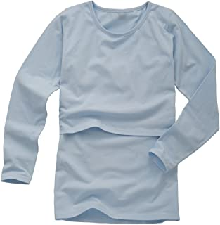 Babiesnature Nursing Tops Breastfeeding T-Shirts Maternity Long Sleeve Organic Cotton