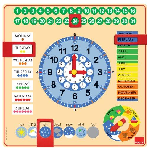 Jumbo Spiele Kalender Uhr Lernmaterial Englisch