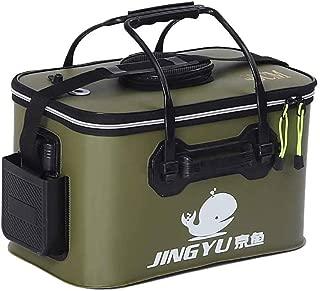 Luckiests EVA Plegable de múltiples Funciones Portable Maneja Cubo de Pesca para Que acampa yendo de Viaje