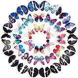 36 Piezas Pinzas de Pelo de Mariposa Pasadores de Pelo de Mariposa Brillante 3D Broches del Cabello de Mariposa Colorida para Mujeres Niñas Adolescentes Accesorios de Cabello (Patrón Clásico)
