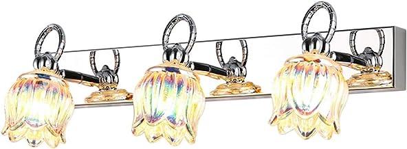Spiegel Lichten 3 LED Spiegellampen, Moderne Minimalistische Badkamer Kaptafel Kant Zonder Perforatie Met Gekleurde Glas S...