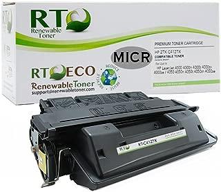 Renewable Toner Compatible MICR Toner Cartridge High Yield Replacement for HP 27X C4127X Laserjet 4000 4050