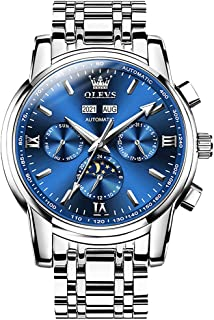 ساعت مچی Ginasy اتوماتیک برای مردان Chronograph ضد آب Self -Winding Stainless Steel Mechanical Luxury Fashion Classic Wrist Watch