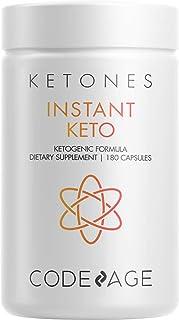 Codeage Instant Keto BHB Supplement Pills for Women and Men, BHB Salts as Exogenous Ketones, 180 Capsules, ...